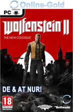 Wolfenstein 2 The New Colossus - DE & AT PC Cut Version - STEAM Download Code