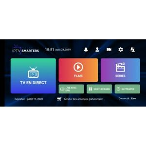 Smarters Pro Abonnement 12 Mois Smart Tv Box Tv Android IOS Xtream code+M3U