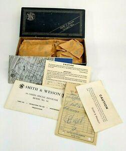Vintage 1977 Smith & Wesson 38 Chiefs Special Model 36 Gun Box Paperwork Receipt