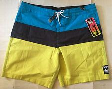 NWT Billabong Men Tribong Blue Color Block Swim Surf Board Shorts Sz 36