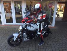 Original SPIDI 2-Teiler Herren Lederkombi Motorrad schwarz weiß rot Größe 54