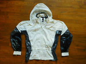 Adidas Stella McCartney Windbreaker Jacket sz Womens S Running White Black Gym