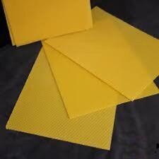 10 feuilles de Cire Gaufrée Format  Dadant-Hausse 13X41