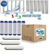 "21 Reverse Osmosis  Water Filter GAC/CB/Sediment 3 year supply fits 10"" Slimline"
