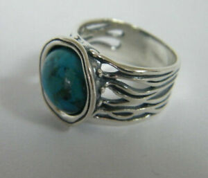 New SHABLOOL Ring Turquoise Stone 925 Sterling Silver Jewelry Women Lady