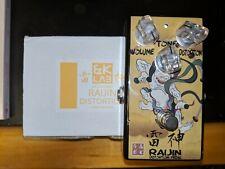 Slightly Used &K.Laboratory RAIJIN Distortion Pedal WITH BOX