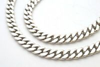 """925 Sterling Silver Curb Chain Necklace. 79 grams,  20"""" / 50 cm"""