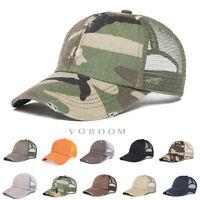 VOBOOM Vintage Distressed Mesh Trucker Outdoor Sports Baseball Cap Hat Snapback