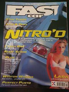 Fast Car Magazine December 2002 (395)(Rare) Renault Clio with Nitrous - Honda Ci