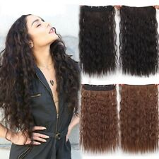 40Colors 5 Clips Ombre Wavy Clip in Hairpieces Curly Synthetic Hair Extensions