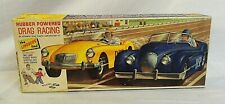RARE! 1960`S LINDBERG DRAG RACING DOUBLE RACE CAR MODEL KIT GIFT SET IN THE BOX!