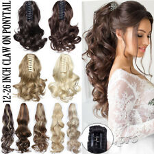 Extra Thick Real Claw Ponytail Clip In Hair Extensions Pony Tail As Human HAIR