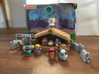 Fisher Price Little People Nativity Christmas Story Lights & Sounds VGC + Box