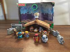 Fisher Price Little People Nativity Christmas Story Lights & Sounds VGC + Box