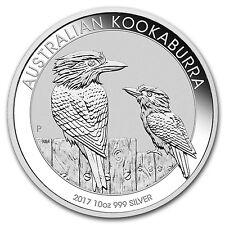 2017 Australia 10 oz Silver Kookaburra BU - SKU #102673