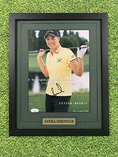 Annika Sorenstam Signed Magazine Page Jsa Auto Custom Framed LPGA