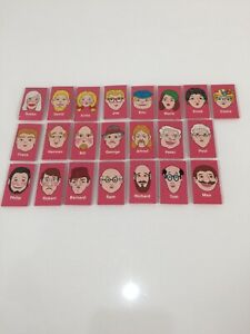 Milton Bradley GUESS WHO Board Game replacement pink faces 1979