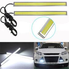 2pcs Waterproof 12V LED COB Car Auto DRL Driving Daytime Running Lamp Fog Light