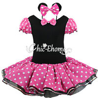 Minnie Mouse Girl Party Christmas Xmas Costume Tutu Ballet Dance Fancy Kid Dress