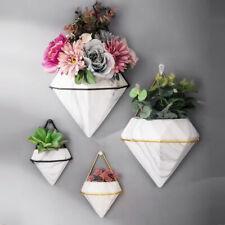 Ceramic  Flowers Pot Wall Hanging Marble Succulent Planter Vase Geometric Basket