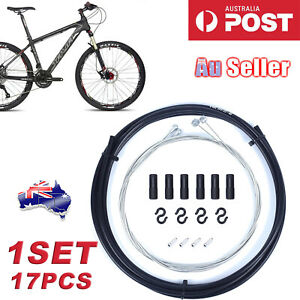 Bike Bicycle Front Rear Inner Outer Wire Brake Gear Shifter Cable Housing Kit AU