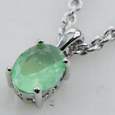 Prehnite Silver Filled Gemstone Pendant PP07