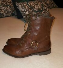 OTBT Hutchison Off the Beaten Track Distressed Brown Leather Combat Boots 10M