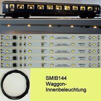 SMIB144 SMD LED Waggon Innenbeleuchtung 144mm Warmweiß Analog/Digital C3239