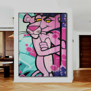 PINK PANTHER Original Wall Art Large Bar Club Banksy Street art GRAFFITI
