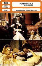 Fiche Cinéma. Movie Card. Performance (G-B) 1970 Nicolas Roeg & Donald Cammell