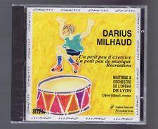 DARIUS MILHAUD CD (NEW) UN PETIT PEU DE MUSIQUE(CLAIRE GIBAULT)