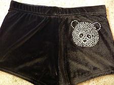 New LILAC LIZARD velour hipster gymnastic / dance shorts ( leotard ) PANDA