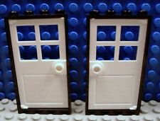 2x LEGO White Panel 2 x 5 x 6 Wall w//Red Bricks Window Scattered 6276 6277 MINT!