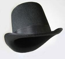 Coachman Black Top Hat Mens Victorian Gentlemen Costume Steampunk Halloween