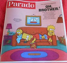 PARADE MAGAZINE JUNE 2013 THE SIMPSONS MAGGIE BART LISA SCIENCE OF SIBLINGS