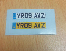 1/18 scale Numberplate decals with GB logo x 1pair (Custom made registrations)