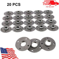 """20Pcs 1"""" Floor Flange Cast Iron Pipe Fitting Base Malleable Wall Mount Threaded"""