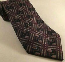 Tiffany & Co Silk Neck Tie Purple Geometric Men's Made In Italy FREE Shipping!