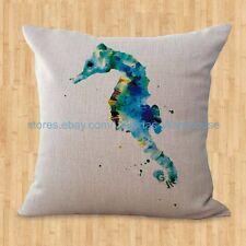 US SELLER- throw pillows Sea life marine seahorse ocean animal cushion cover
