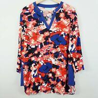 [ BLUE ILLUSION ]  Womens Print Blouse Top | Size 2L or AU 18