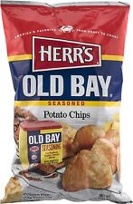 4 BAGS! Herr's OLD BAY Flavored Crab Potato Chips Snack FREE SHIP