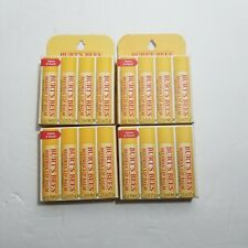BULK LOT 16 TUBES OF BURTS BEES BEESWAX LIP BALM BRAND NEW IN RETAIL PACKAGING