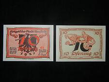Notgeld der Stadt Arnstadt 10 Pfennig von A. Paul Weber (meine Pos-Nr. 10-2-1)