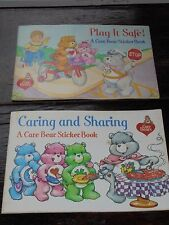 Vintage 1984 Care Bear Sticker Book Lot Pizza Hut Meal Toy Unused Collectible