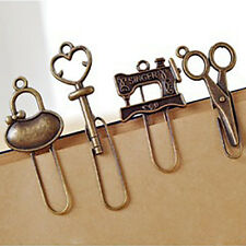 2 pcs/set Vintage Metal Bookmark Stationery Paper Clips Bookmarks For Book