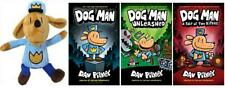 Dog Man Series Collection Set 1-3 WITH PLUSH Hardcover by Dav Pilkey Brand New