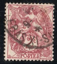 """TIMBRE FRANCE N°108 """"TYPE BLANC, 2 C, BRUN LILAS OBLITERE"""