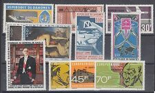 Dahomey Sc C32/C76 Mlh. 8 cplt sets issued 1966-1968, Vf