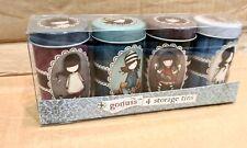 Gorjuss Santoro Set Of four  small storage tins Ideal Christmas/Secret Santa