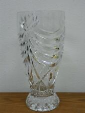 1997 ROYAL GALLERY France 24% Clear Lead Crystal Glass Vase Lausanne Pattern